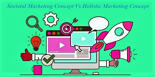 Distinguish between Societal and Holistic Marketing Concept