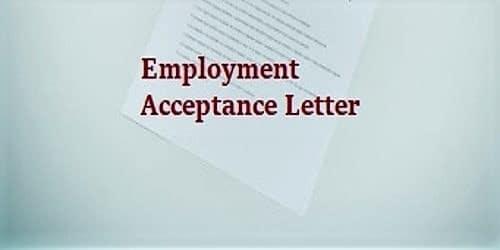 Formal Employment Acceptance Letter Format