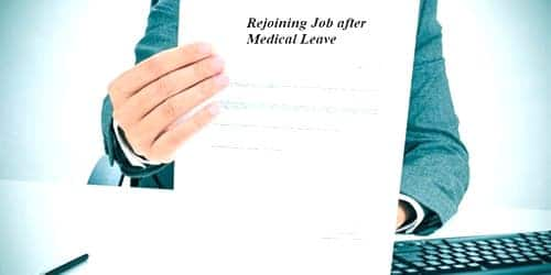 Application for Rejoining Job after Medical Leave
