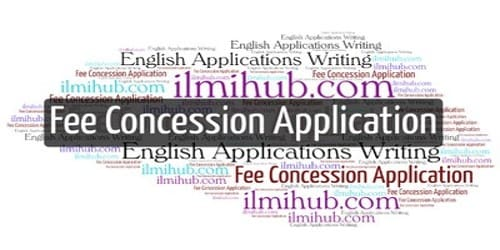 Application for Fee Concession by Parents