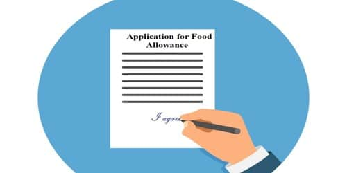 Application for Food Allowance for Employees