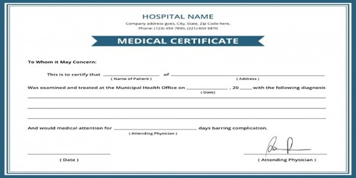 Application Format for Health Certificate Issuance
