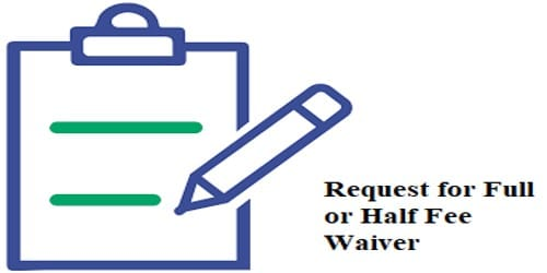 Request for full or half Fee Waiver after Father Death
