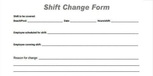 Shift Change Request Letter from Employee