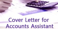 Cover Letter for Accounting Assistant