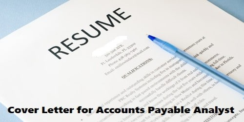 Cover Letter for Accounts Payable Analyst