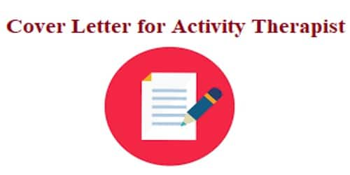 Cover Letter for Activity Therapist