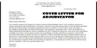 Cover Letter for Adjudicator Job Position