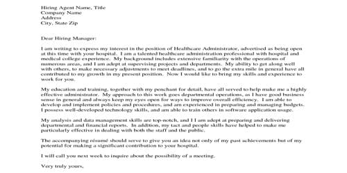 Cover Letter for Program Coordinator