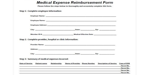 Medical Expense Reimbursement Application to company Authority