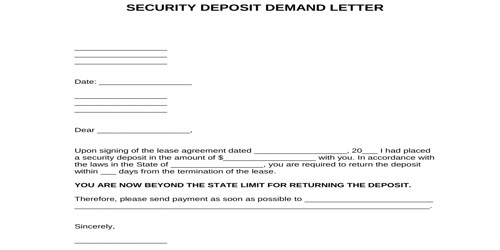 Security Deposit Request Letter from www.qsstudy.com