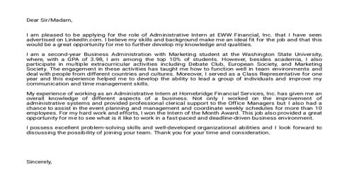 Cover Letter for Academic Administrator