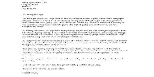Cover Letter for Addiction Therapist