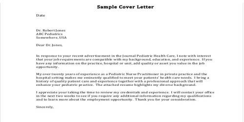 Cover Letter for Nurse Practitioner