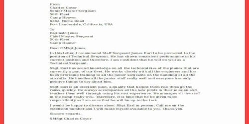 Cover Letter Air Force Staff Sergeant