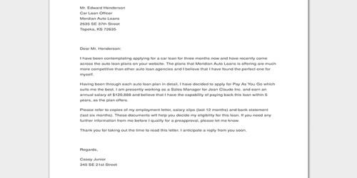 Cover Letter for Agricultural Loan Officer