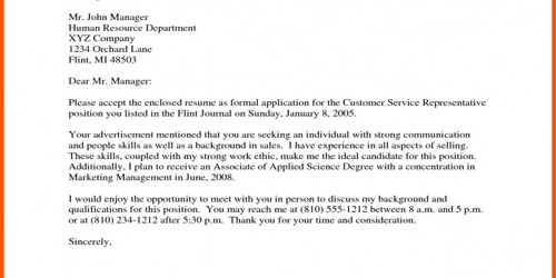 Cover Letter for Air Export Agent