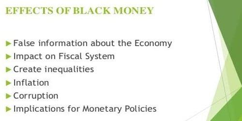 Impact of Black Money