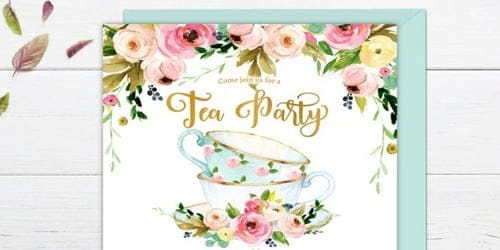 Invitations Letter for Tea Party