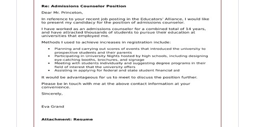 Cover Letter For Admissions Counselor from www.qsstudy.com