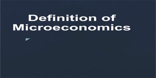 Definition of Microeconomics