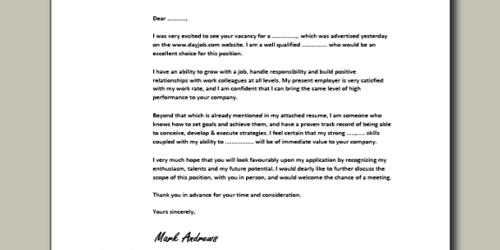 Cover letter for director of admissions