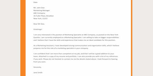 Cover Letter for Architectural Representative