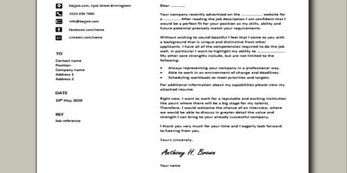 Cover Letter for Assistant Front End Manager