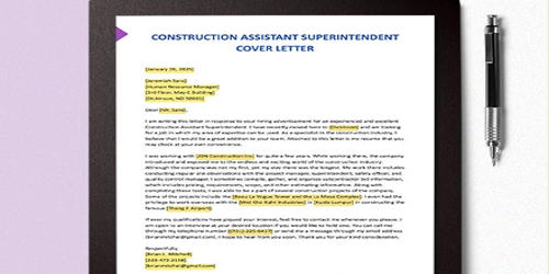 Cover Letter for Assistant Superintendent