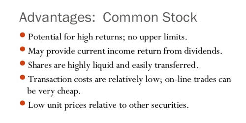Advantages of Common Stock