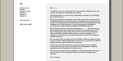 Cover letter for merchandise coordinator position