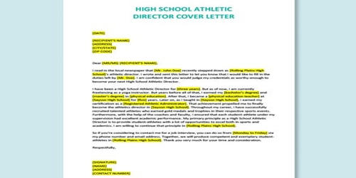 Cover Letter for Athletic Director