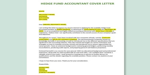 Cover Letter for Fund Accountant