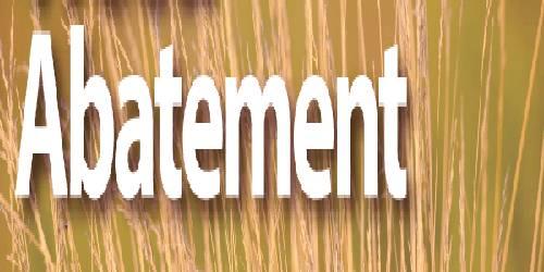 Abatement