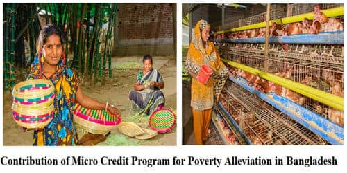 Contribution of Micro Credit Program for Poverty Alleviation