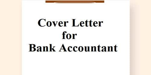 Cover Letter for Bank Accountant