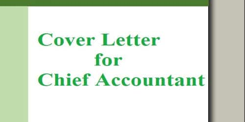 Cover Letter for Chief Accountant