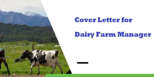 Cover Letter for Dairy Farm Manager