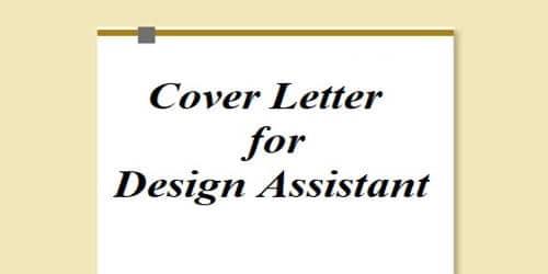 Cover Letter for Design Assistant