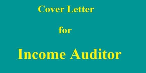 Cover Letter for Income Auditor