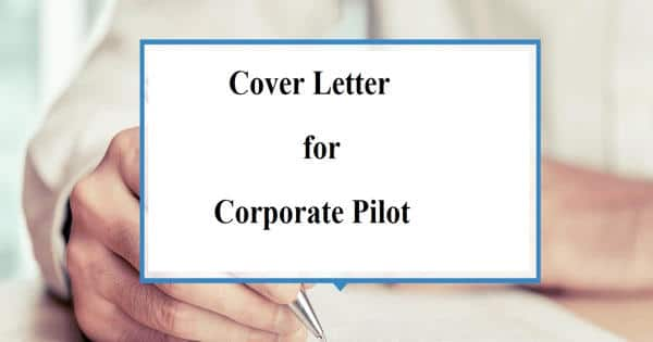 Cover Letter for Corporate Pilot