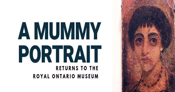 """The Egyptian """"mummy portrait"""" shows the face of a dead boy in the Greco-Roman Times"""